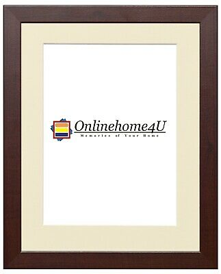 Photo Picture Frame With Ivory Mount Multi Colors Wooden Effect Flat Photo Frame