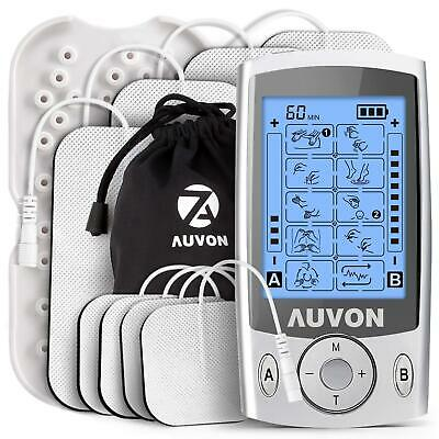 """AUVON Dual Channel TENS Unit Muscle Stimulator Machine with 20 Modes, 2"""" and 2""""x"""