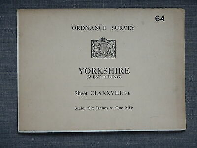 1909 - Antique Cloth Ordnance Survey Map - 6 in:1 mile - BARDSEY,EAST KESWICK 64