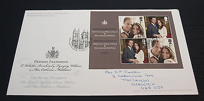21/4/11 Royal Wedding Official Engagement Portraits First Day Cover SHS (B89)