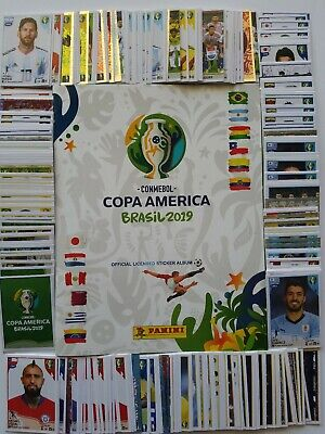 Official Panini Copa America Brasil 2019 Album + Complete Set of 400 Stickers