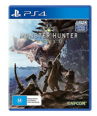 Monster Hunter World PS4 Playstation 4 Brand New Sealed Free Post AU Stock