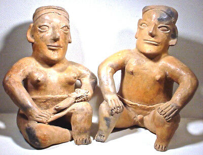 Pre-Columbian Jalisco Couple & Baby Ex Sotheby's '78