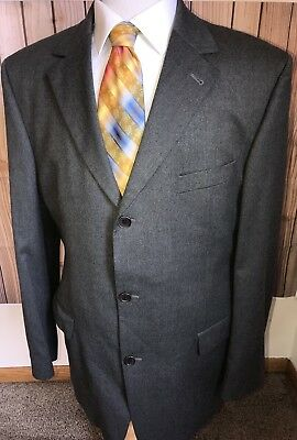 2b6824f08 Hugo Boss Men's Wool Lycra Angelico Parma Gray Striped Blazer Jacket Sz ...