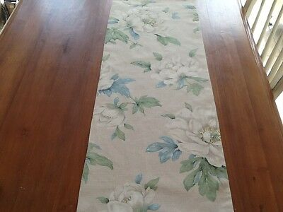 Laura Ashley Table Runner in Wisley Linen  Fully Lined. New!