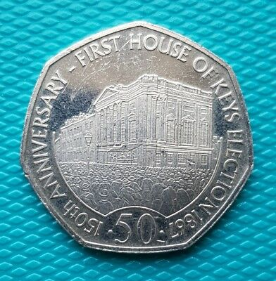 🇮🇲2017 ISLE OF MAN IOM 50p Fifty Pence First House of Keys Election 1867🇮🇲