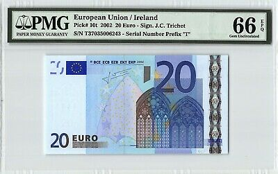 "P 8m UNC com EUROPEAN UNION  PORTUGAL  5 EURO 2002 Sign TRICHET /""M/"" U008H3"