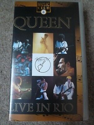 Queen - Live In Rio. VHS video