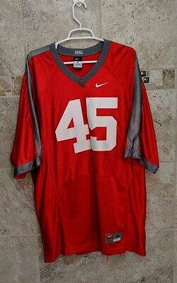 purchase cheap 2e5cc dddd5 RARE NIKE OHIO State Buckeyes Red 1961 Throwback #45 Sewn Jersey Mens Size  XL