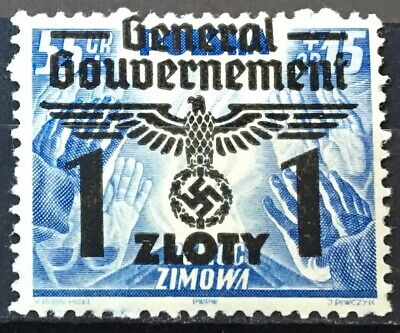 Germany / Poland 1940, General Government, Optd Winter Aid, MNH** SG: PL 388a