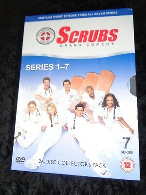 NEW SEALED 26 Disc DVD BOX SET SCRUBS Series 1 2 3 4 5 6 7 Season COLLECTOR'S