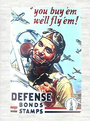 US Seller- Defense Bonds Stamps tin metal sign indoor wall hanging