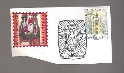 8423- Austria , Osterreich , Ballonpost special label and cancel on piece 3/12/2