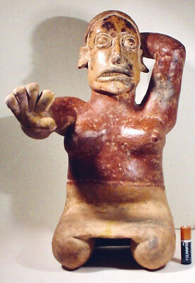 Tall Pre-Columbian Female Figure Jalisco  Coa