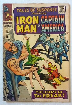 Tales Of Suspense 75 Iron Man Captain America Silver VG+/NF- 1st Sharon Carter