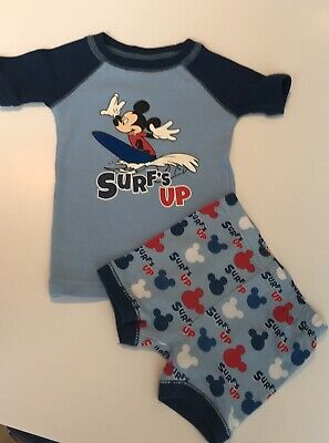 Baby Boy Disney T-shirt & Shorts, 12m Navy Blue & Baby Blue With Micky Mouse.