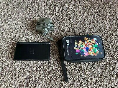 Nintendo DS Lite Portable Handheld Gaming Console Black Bundle All AUTHENTIC