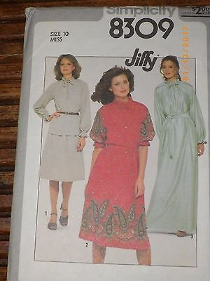 8309 SIMPLICITY MISSES PULLOVER TOP & SKIRT SEWING PATTERN SIZE 10 Uncut