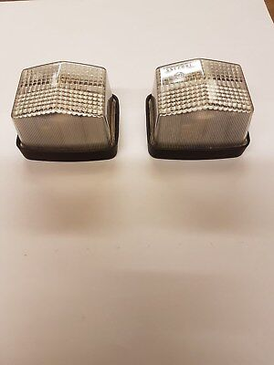 Pair of Front Clear Trailer & Caravan Marker Lamps Inc Bulb - Flush Mounted