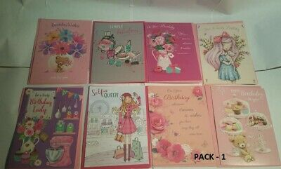 Pack Of 8 Adults/Childs Mixed/Assorted Birthday Cards Or 10 Random