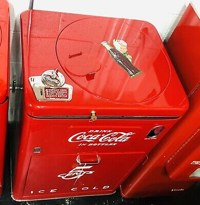 Original 1950s Antique COKE MACHINE Coca Cola RESTORED Coin Op Vending VMC A23 E