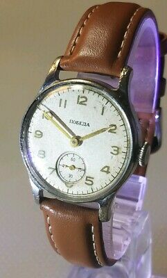 Pobeda 34-K First Watch In Space! 1955 Manufacture Dt.   Serviced 4/19