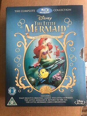 Disney The Little Mermaid Blu-Ray 1 2 3 Complete Collection Trilogy Region Free