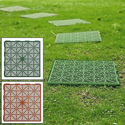 Interlocking Plastic Garden Path Floor Tiles Lawn Paving Walkway Patio Tiles