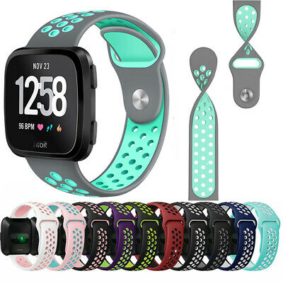 For Fitbit Versa Replacement Band Sport Breathable Silicon Wristband Watch Strap