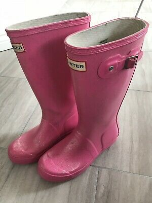 c4166802a57 TODDLER GIRLS PINK Hunter Welly Boots, Size 6 - £2.00   PicClick UK