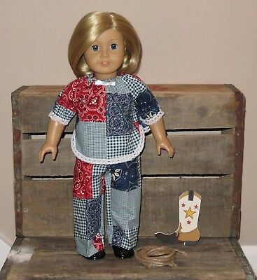"""Handmade Doll Clothes fits/for 18 in. American Girl """"Let's Play"""" Pants & Top"""