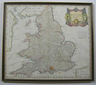 England and Wales: antique map by Robert Morden, 1695 (1722 edition)