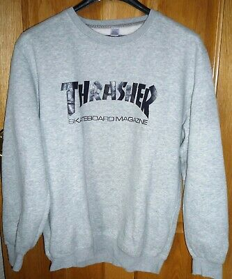 cf0e4f18e27e Thrasher Skateboard Magazine Sweatshirt XXL Grey Poly Cotton Men s Active  Wear