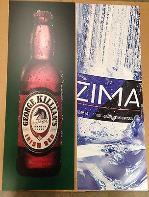 Zima Malt Beverage & Killian's Irish Red Double-sided Beer Signs ALMOST GONE!
