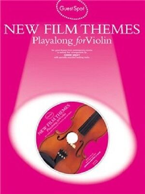 GUEST SPOT.  NEW FILM THEMES Playalong for Violin  with CD   Sheet Music Book