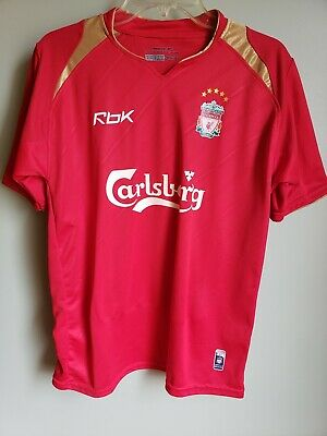0bfd920af1d VINTAGE WHITE REEBOK Small Liverpool Football Club Jersey Soccer ...