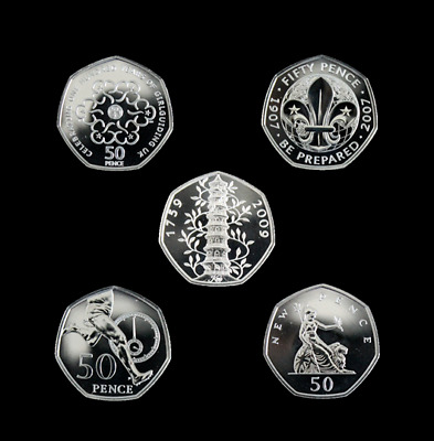 2019 50 Years of the 50p Set BUNC Fifty Pence Choose Your Coin Incl Kew Gardens