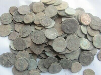 100 - ANCIENT DIRTY UNCLEANED ROMAN COINS APROX 150BC-450AD-Fun Hobby