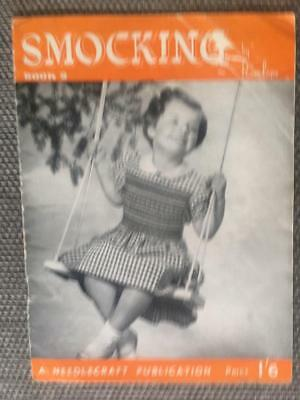 Original Vintage Needlecraft Publication Penelope Smocking Pattern Book 2  1'6