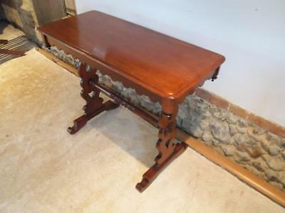 Table side hall lamp console Victorian Mahogany c1880