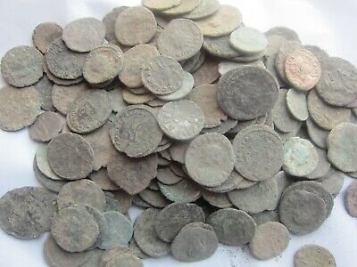 50 - ANCIENT DIRTY UNCLEANED ROMAN COINS APROX 150BC-450AD-Fun Hobby
