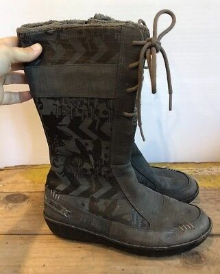 06b4f7e557d6 Teva Womens 5 Or 36 EU Kiru Gray Mid-Calf Winter Boots 4058 Modern Graphic