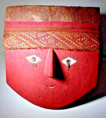 Pre-Columbian Chancay Mask & Headband Ex: Sothebys '81