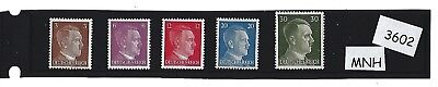 #3602    MNH Adolph Hitler Stamps / 1941 Third Reich issues / MNH / Nazi Germany
