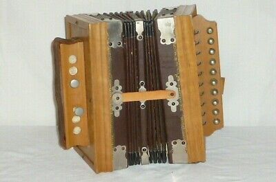 Old Bandoneon Accordion Accordeon Harmonica Bandonion Wood Accordion 1900