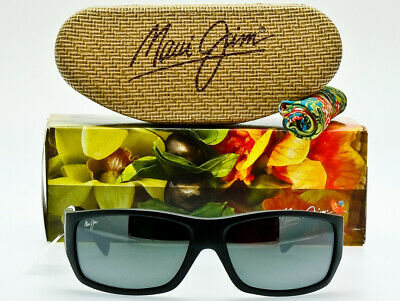 dc9d466dcc NEW MAUI JIM POLARIZED WASSUP Black Wood Grain Neutral Grey Lens GENUINE IN  BOX