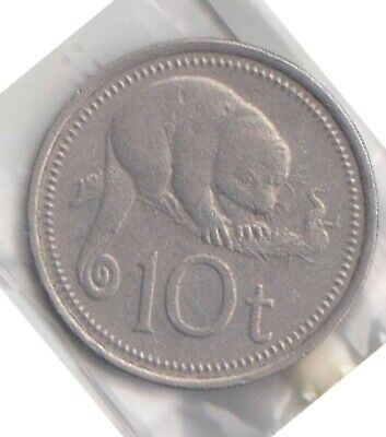 (H108-48) 1995 PNG 10T Coin (AW)