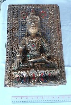 ANTIQUE Teak Wood Buddhist Sutra Box Wat Phra That Lampang Luang