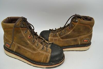 """Timberland PRO A1B4L 6"""" Gridworks Non-Slip Wedge Sole EH SOFT TOE WORK Boot 10 M"""