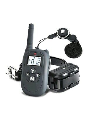 Dog Shock Training Collar Rechargeable Remote Control Waterproof IP67 1000 Yards
